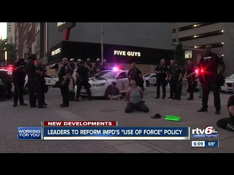 Protests continue in downtown Indianapolis
