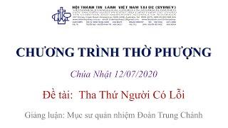 HTTL KINGSGROVE (Úc Châu) - Chương trình thờ phượng Chúa - 12/07/2020