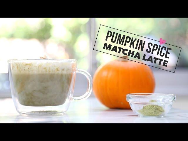 Pumpkin Spice Matcha Latte (Healthy Starbucks PSL version)