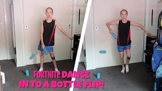 FORTNITE DANCES INTO BOTTLE FLIPS! (+ some sweaty fortnut gameplay)