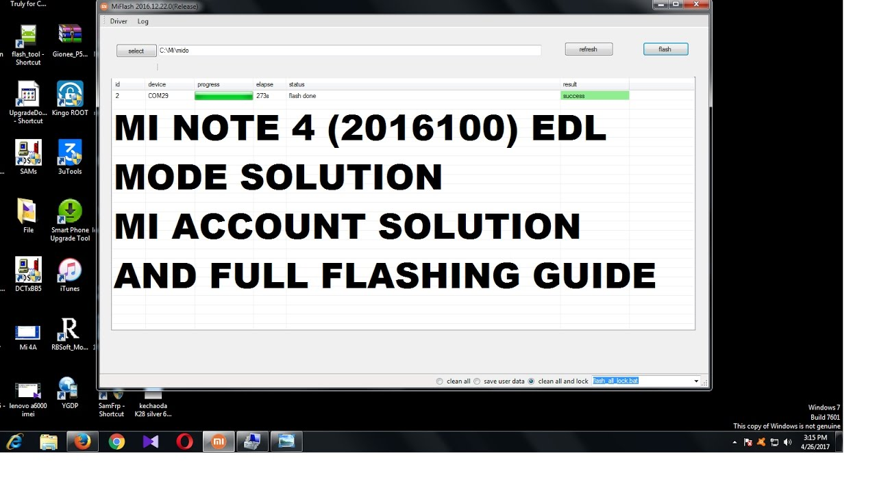 Redmi Mi Note 4 EDL Mode Solution Or Flashing Guide  by Mobile Software  Jugaad