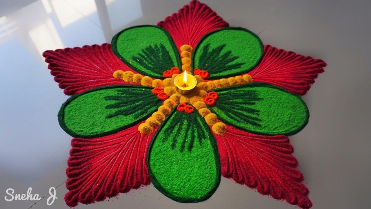 Beautiful And Unique Rangoli Design Innovative Rangoli Designs