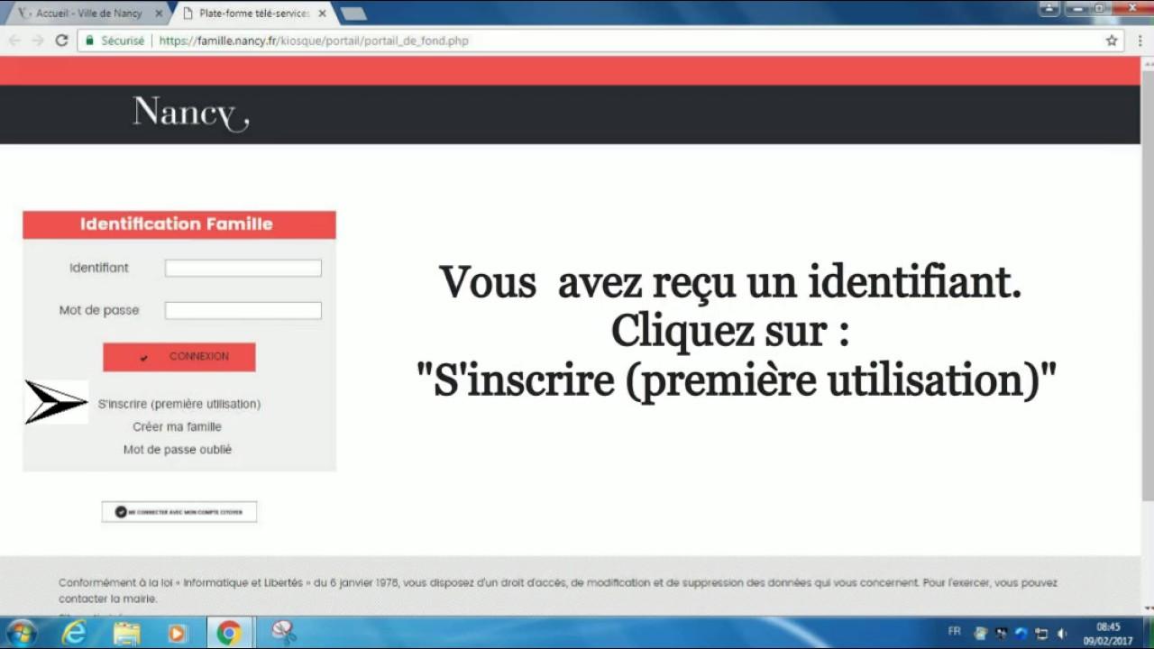 31d329c26b1a Tutoriel d accès au portail Famille (1ère connexion) - YouTube