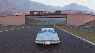 Gran Turismo Sport - Chevrolet Corvette Sting Ray Sport Coupe (C2) '63 Gameplay [4K PS4 Pro]