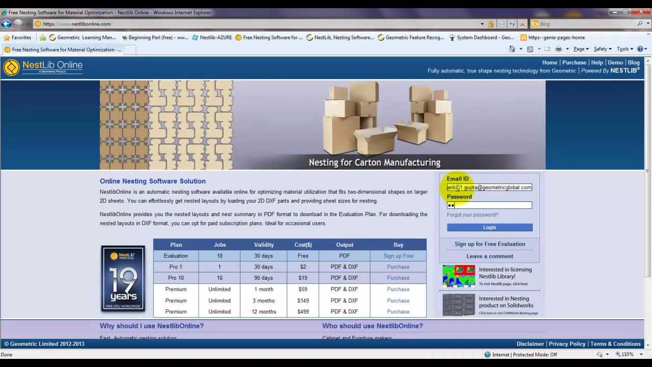 NestLib Online -- Free Nesting Software for Material Optimization