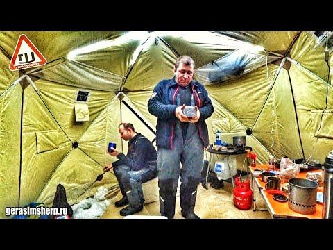 Вездеход Шерп на ОНЕГО. Палатка на ВЕБАСТО! Опять провалились под лед! ч2