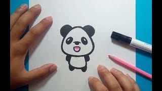 Como dibujar un oso panda paso a paso 7   How to draw a panda 7
