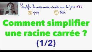 vuclip 2nde Comment simplifier une racine carrée ? (1/2)