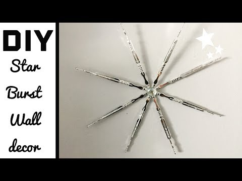 Dollar tree DIY/star burst wall decor