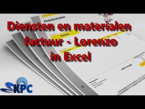 diensten-en-materialen-factuur-lorenzo-in-excel