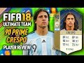 FIFA 18 PRIME CRESPO (90) *ICON* PLAYER REVIEW! FIFA 18 ULTIMATE TEAM!