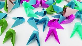 How to Make 3D Origami Pieces. (Full HD)