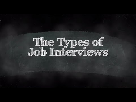 types of job interviews