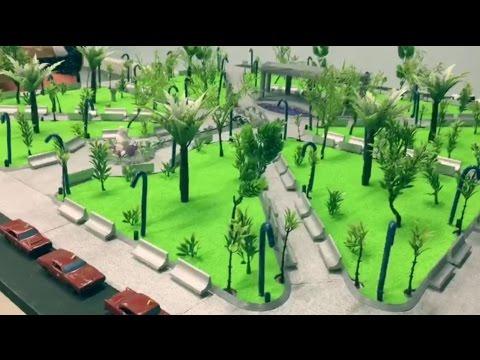 Estudiantes de arquitectura elaboran maqueta del parque for Como iluminar un parque