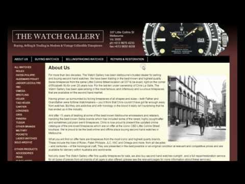 THE WATCH GALLERY in Melbourne - Archie buys a new watch!