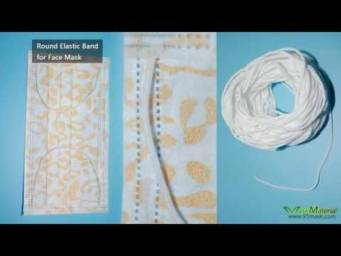 Round Elastic Band Face Mask Ear Loop Youtube
