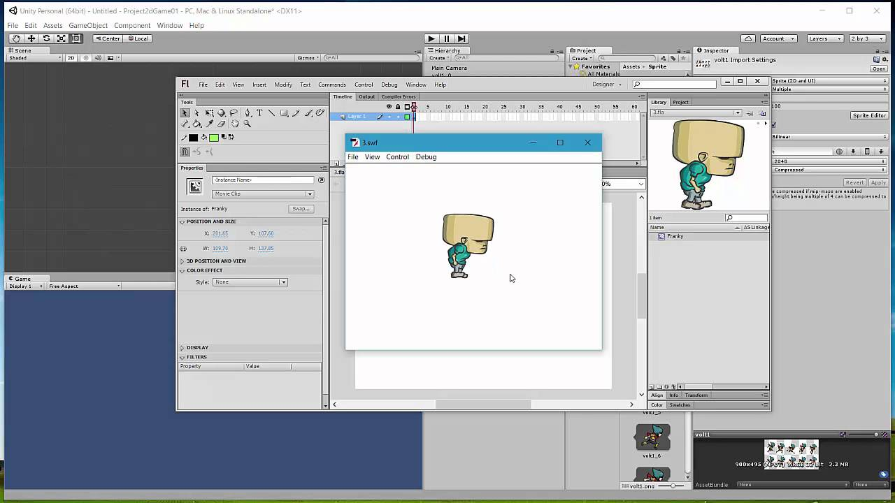 Unity 2d Game With Unity Part 1 Youtube