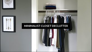 Minimalist Closet Clear Out / Declutter  |  40 Item Wardrobe for the Year