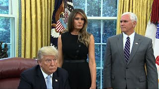 """Trump: First Lady """"Affected"""" by Harvey"""