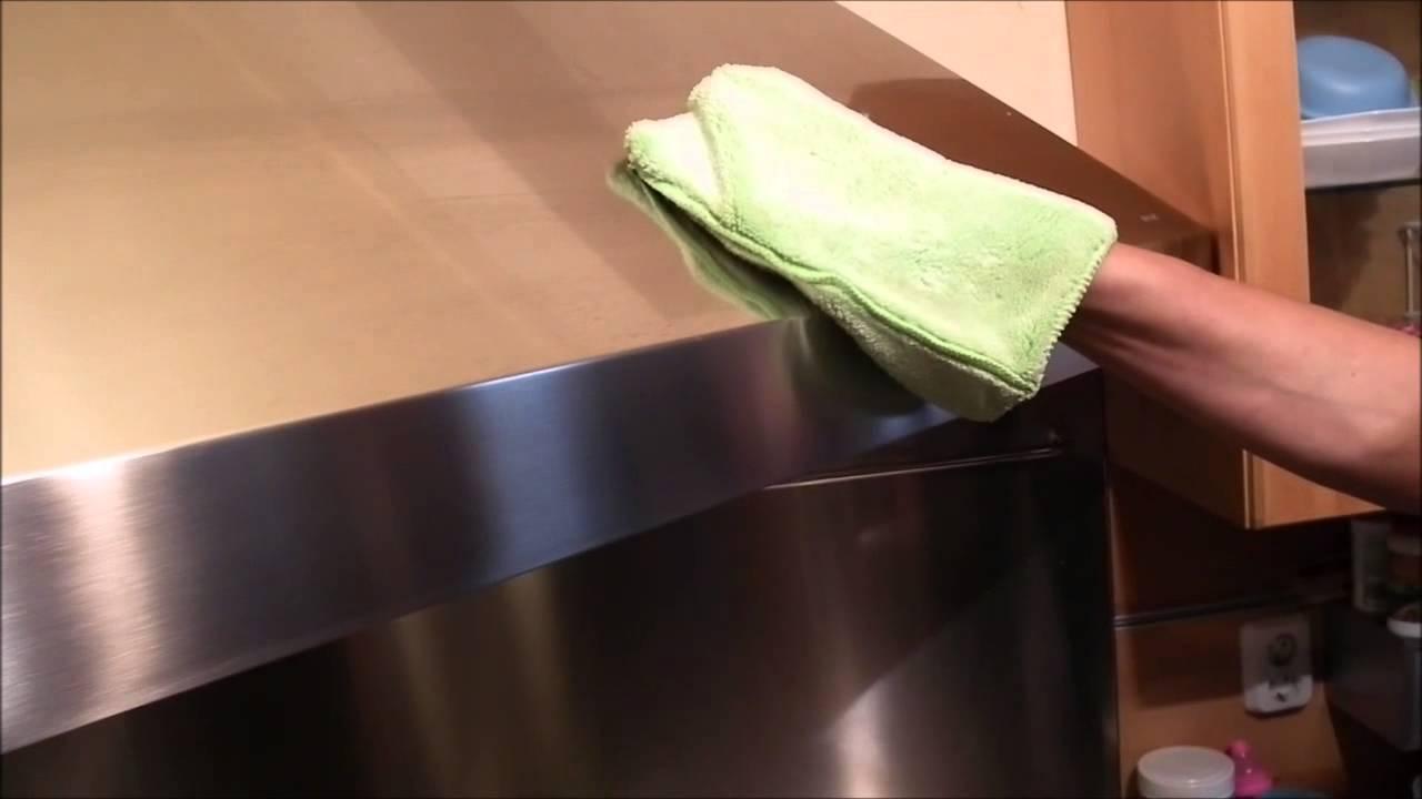 afzuigkap rvs schoonmaken