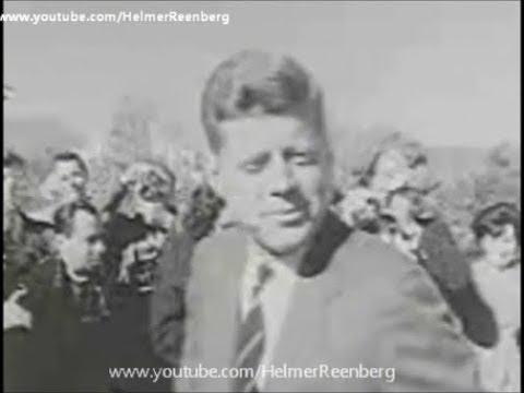 November 8, 1960 - Senator John F. Kennedy arriving Hyannis Port after voting in Boston Massachusett