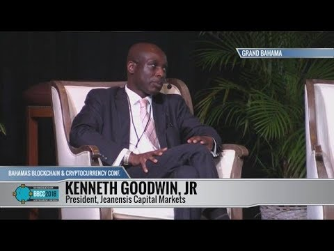 Jeanensis president Mr.Kenneth Goodwin at The Bahamas Blockchain & Cryptocurrency Conference II.