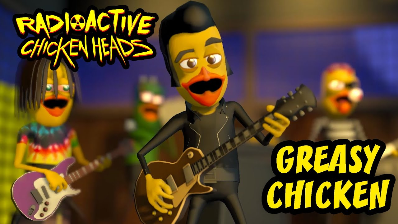 GREASY CHICKEN Radioactive Chicken Heads animated music video