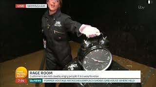 Katy Ricketts Goes Nuts in Rage Room!   Good Morning Britain