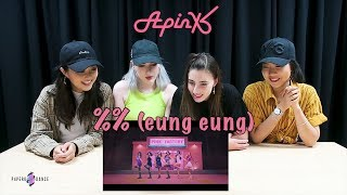 [COVER ME - MV REACTION] %% (응응) - APINK | P4pero Dance