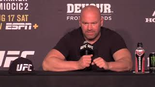 Dana White weighs in on Nate Diaz performance vs Anthony Pettis | UFC 241 | Post fight interview