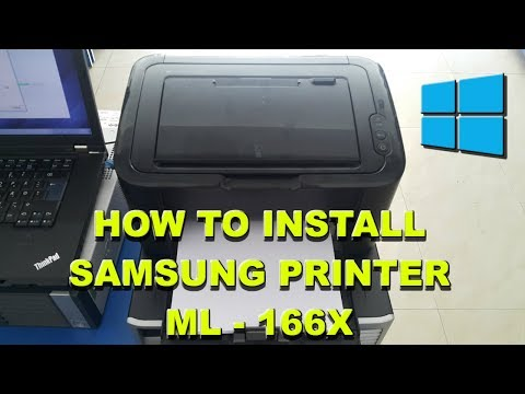 Samsung ML 1665,1660, 1666 Easy Driver Or Software Printer Installation Guide For Windows 2019