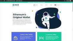 Ethereum Wallet Erstellen Bei MyEtherWallet | Ethereum Adresse Anlegen
