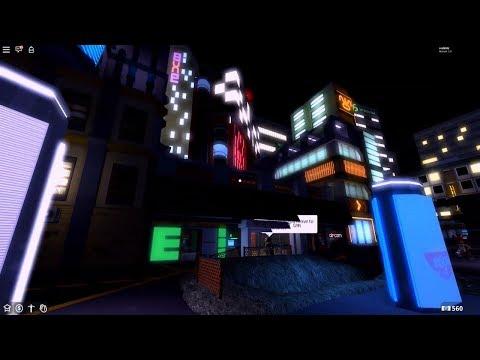 Walking Around The Neon District A 2019 Bloxy Winner Roblox Showcase