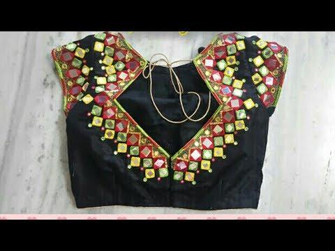 Glamorous Black Saree Blouse Designs