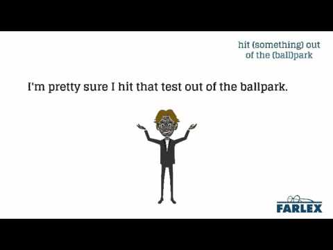 hit (something) out of the (ball)park