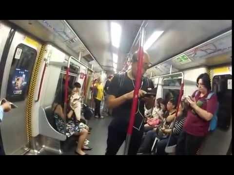 Hong Kong MTR trip to Airport 14th Oct 2016
