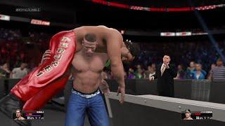 WWE 2K15- John Cena vs Great Khali Fall Count Anywhere Match At Royal Rumble 2015 (PS4)