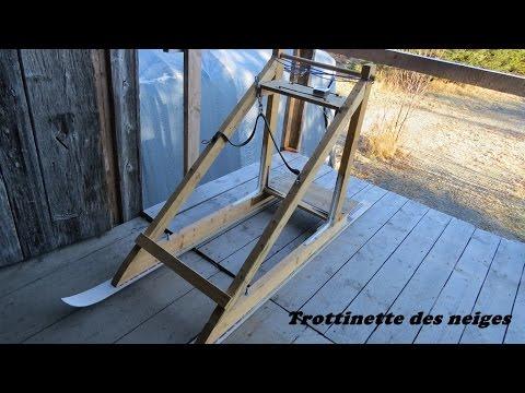 trottinette des neiges plan fabrication youtube. Black Bedroom Furniture Sets. Home Design Ideas