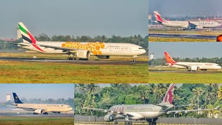 Plane Spotting at Cochin Int'l Airport - Wide body Aircraft landings - Part 1 [HD]