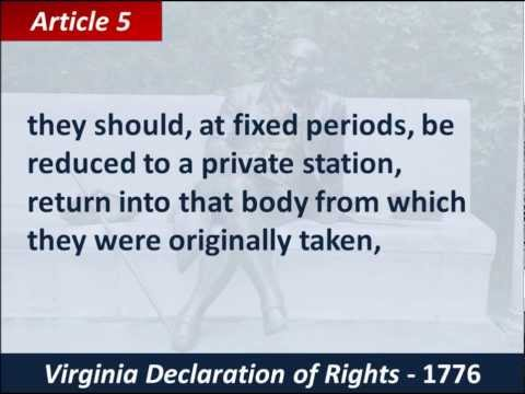 What is a summary of the Virginia Declaration of Rights?