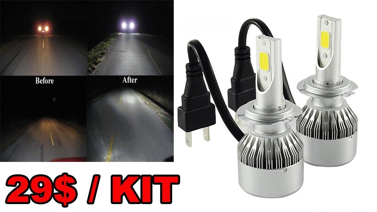 Led Automobile C6 Kit Conversion Phare Remplacement Ampoule Halogene