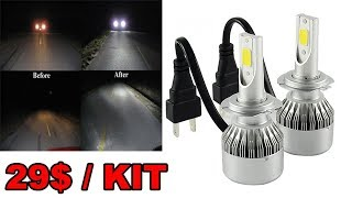 LED Automobile C6 Kit Conversion Phare Remplacement Ampoule Halogene Review Francais ThinkUnBoxing
