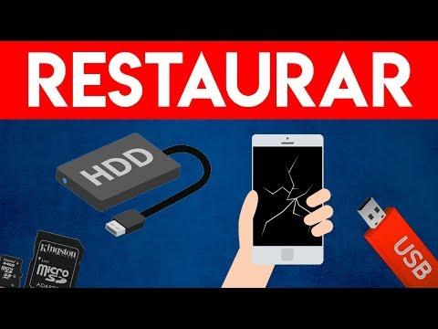 ¿USB o TELÉFONO ROTO o AVERIADO? RESTAURAR en 1 MIN Fotos y Archivos  Recuperar DATOS Borrados 2019