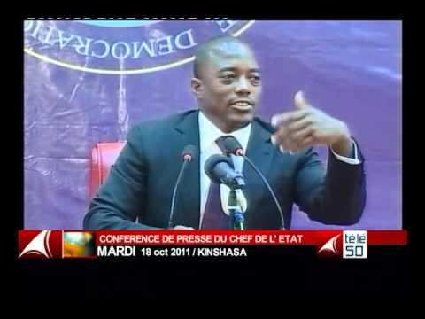 JOSEPH KABILA POINT DE PRESSE  RDC TELE 50  CONGO  PARTI 6