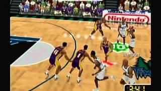 NBA Courtside 2 Featuring Kobe Bryant (Nintendo 64) Game Play