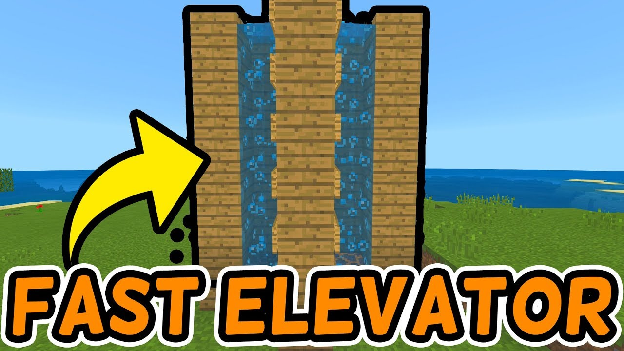 Minecraft - How to Make a Water Elevator [Java 122.1223 / PE 122.12]