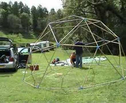 & Geodesic dome tent - setting up - YouTube