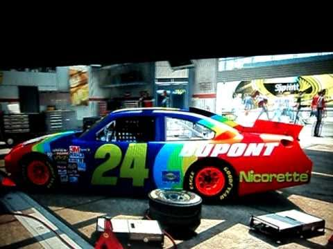 Nascar the game 2011 My Custom Car - YouTube