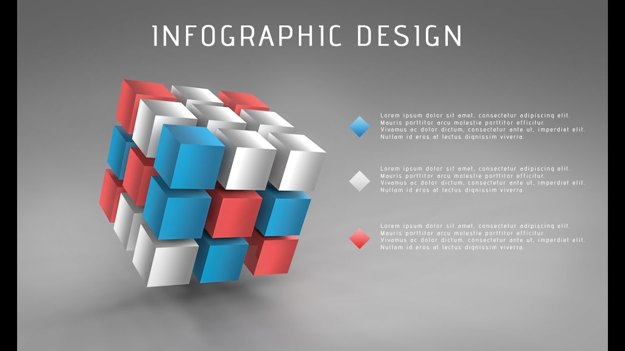 3D Graphic Design Infographic | Photoshop Cinema 4D C4D Tutorial ...