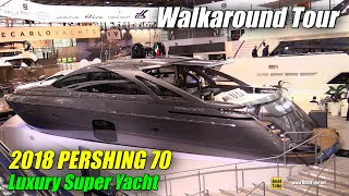 2018 Pershing 70 Luxury Motor Yacht - Walkaround - 2018 Boot Dusseldorf Boat Show